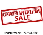 rubber stamp with text customer ... | Shutterstock .eps vector #234930301