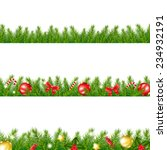 christmas border with fir tree... | Shutterstock .eps vector #234932191