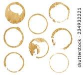 coffee blobs  vector... | Shutterstock .eps vector #234932221