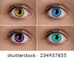 Colorful Eyes Collage Close Up