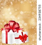 gift box with bow and light.... | Shutterstock .eps vector #234938755