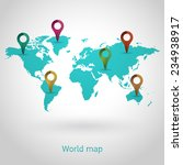 world map vector | Shutterstock .eps vector #234938917