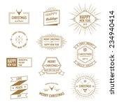 collection of christmas and new ... | Shutterstock .eps vector #234940414