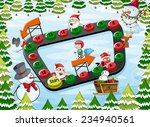 a christmas board game with... | Shutterstock .eps vector #234940561