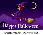 a happy halloween template with ... | Shutterstock .eps vector #234941455