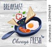 breakfast poster. fried eggs... | Shutterstock .eps vector #234946969