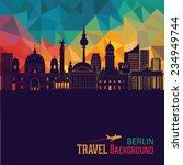 berlin skyline. vector... | Shutterstock .eps vector #234949744