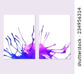 vector watercolor invitation... | Shutterstock .eps vector #234956314