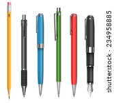 pens and pencils collection... | Shutterstock .eps vector #234958885