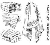 bathroom set  towels. vector... | Shutterstock .eps vector #234962989