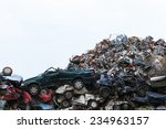 Scrap Yard With Cars