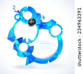 composition of blue round... | Shutterstock .eps vector #234963391