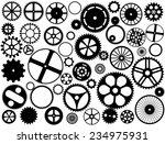 gear wheel silhouettes    Shutterstock .eps vector #234975931