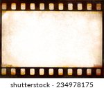 grunge film strip frame... | Shutterstock . vector #234978175