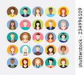 big set of avatars profile... | Shutterstock .eps vector #234996109