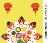 chinese new year reunion dinner ... | Shutterstock .eps vector #234997519