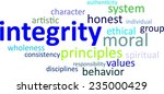 a word cloud of integrity... | Shutterstock .eps vector #235000429