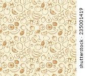 fresh fruit seamless pattern... | Shutterstock .eps vector #235001419