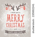 greeting card. merry christmas... | Shutterstock .eps vector #235002241