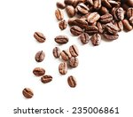 coffee beans  isolated on white | Shutterstock . vector #235006861