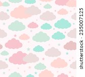 childish seamless pattern with... | Shutterstock .eps vector #235007125