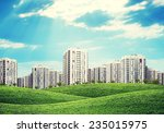 high rise buildings of same... | Shutterstock . vector #235015975