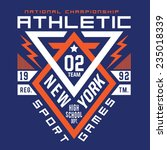 Athletic New York  Typography ...