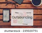 notebook with text inside... | Shutterstock . vector #235020751