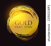 gold shining paint stains.... | Shutterstock .eps vector #235021891