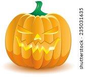 halloween pumpkin  | Shutterstock . vector #235031635
