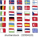 Painted Flags Of Europe