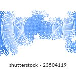 blue old mosaic vector...