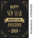 digitally generated happy new... | Shutterstock .eps vector #235046281