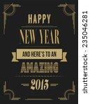 digitally generated happy new... | Shutterstock .eps vector #235046281