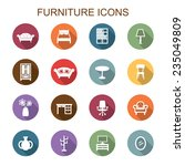 furniture long shadow icons ... | Shutterstock .eps vector #235049809