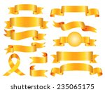 the collection yellow ribbons... | Shutterstock .eps vector #235065175