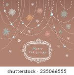 christmas card background | Shutterstock .eps vector #235066555