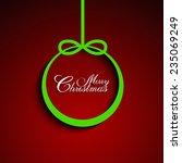 shape of christmas bauble on... | Shutterstock .eps vector #235069249