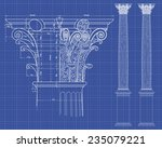detail of corinthian column... | Shutterstock .eps vector #235079221