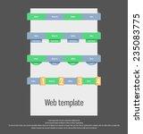 user interface template. web...