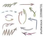 illustration set of hand drawn... | Shutterstock . vector #235088731