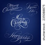 merry christmas and happy... | Shutterstock .eps vector #235088875