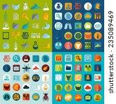 set of veterinary flat icons | Shutterstock . vector #235089469