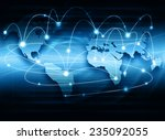 best internet concept of global ... | Shutterstock . vector #235092055