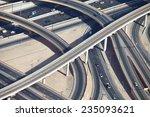 aerial view of highway...   Shutterstock . vector #235093621