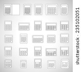calculator icons set   isolated ...