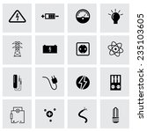 vector black electricity icons... | Shutterstock .eps vector #235103605