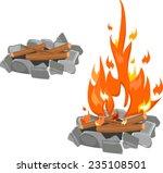 campfire | Shutterstock .eps vector #235108501