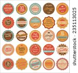 quality retro vintage badges | Shutterstock .eps vector #235113025