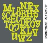 vector alphabet. hand drawn... | Shutterstock .eps vector #235125049